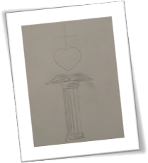 Pedestal Book & Heart