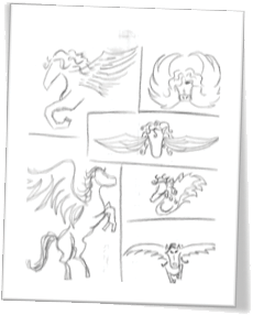 Pegasus Sketches