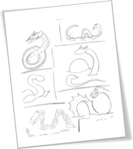 Loch Ness Sketches